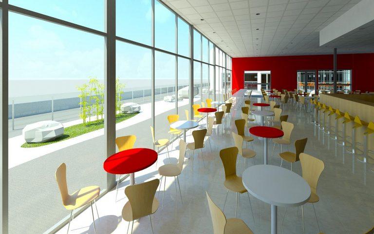 Cafeteria exterior